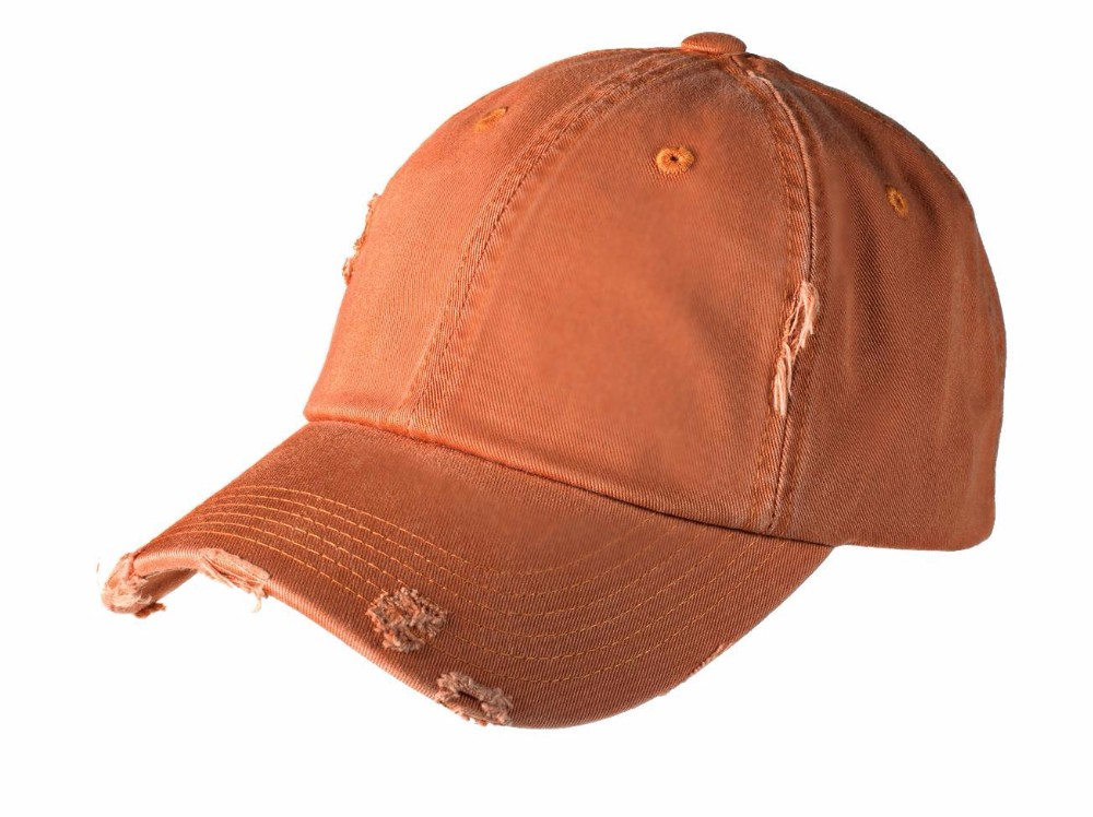 Wholesale unisex 6 panel distressed plain dad hat