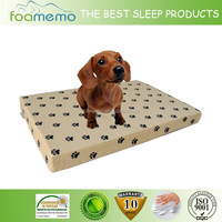 Hot sale dog product memory foam Rectangle dog bed