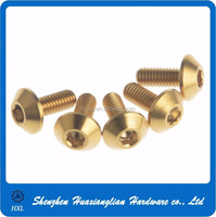 Brass aluminum stainless steel pan head button head torx chipboard machine screw