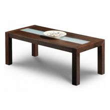 JIAHE Modern wooden leg glass top Coffee Table