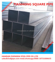 q235 150*100 60*60 Rectangular and Square ASTM A500 non secondary mild steel pipe