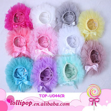 Solid color Soft Chiffon Wholesale Baby Ruffle Bloomers lovely Baby Bloomers