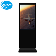 55inch glass digital signage enclosure android glass digital signage