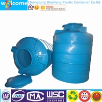 Round Plastic Container with Lid Plastic Product Water Tower 1000L