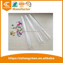 2017 Hot Sale color Craft Storage High clear PC square plastic packing tube for the packing with cap 66