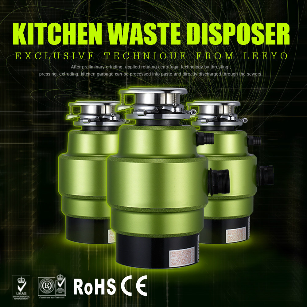 Household Large Capacity Food Waste Disposer for Kitchen with Air Switch