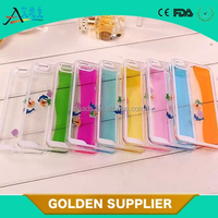 guangdong crystal plastic dynamic liquid protective case PC cover for iphone 5s
