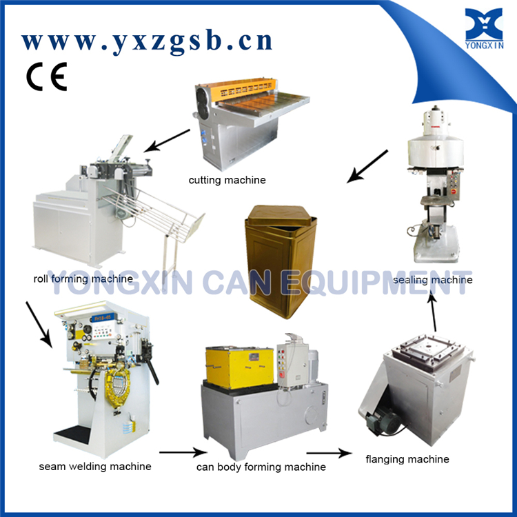 10L to 20L 5 gallon Edible oil Tinplate Square can machine production line