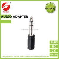 audio adapter 6.35mm stereo plug to 3.5mm mono/stereo jack,male gender,audio connector