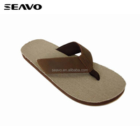 SEAVO SS18 personalised soft sole canvas men suede upper slipper
