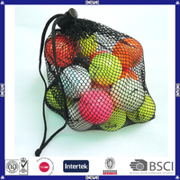 OEM size,shape and color cheap price customized mesh bag golf balls