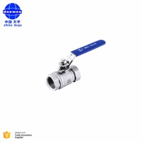 Cangzhou factory threaded 2PC stainless steel ball valve/valvula de bola
