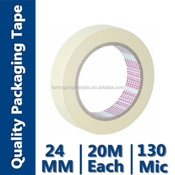 Low Tack Masking Tape(Crepe Paper with Rubber Adhesive,High Temperature Resistance)