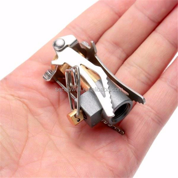 super light weight Mini Portable Collapsible Ultralight Canister Outdoor Camp Stove Instant Campfire Smallest Stove