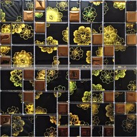 Ebro Mosaic top design glitter crystal glass mosaic tile for building material