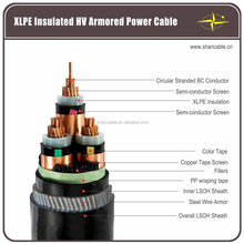 Copper Conductor XLPE Insulation Steel Wire Armour Multicore Electric Power Cable