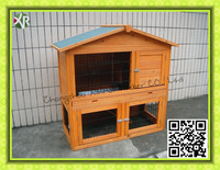 Outdoor 2 story large wooden rabbit cage,rabbit house,rabbit hutch XR 007