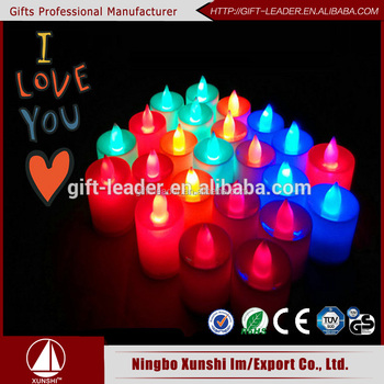 battery- power birthday/wedding plastic led flameless candle