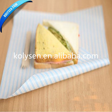 Printed Custom Food Grade PE Laminated Paper For Hamburger Wrapping