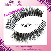 #747 Human Hair False Eyelash , False Eyelashes Made in Indonesia ,Red Cherry Flase Eyelashes