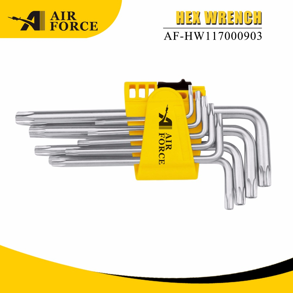 high quality hand tools hex key wrench set