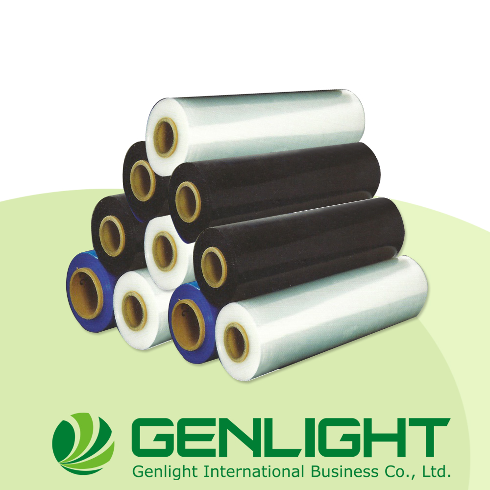 Good quality LLDPE blue rolls Casting blown stretch film