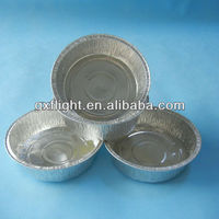 "7"" Round Aluminum Foil Take-Out Pan Containers"