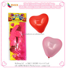 Valentine's day latex heart balloons with balloons holders
