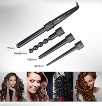 Wholesale Professional custom 4P automatic hair curler parts curling iron set interchangeable ceramic hair curling iron