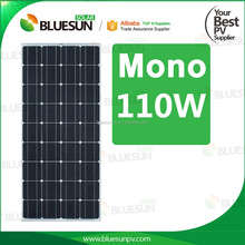 Bluesun hot selling bsm mono 110wp pv solar panel 110 watt solar panel