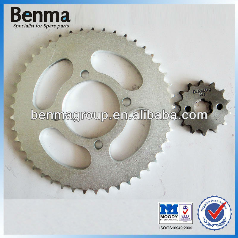 Brazil YBR125 Motorcycle Crown and Pinion, YBR125 Motorcycle Sprocket 43T 16T, Professional Sprocket Motorcycles!!