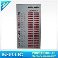led rate exchange billboard \ rate exchange banner billboard \ exchange bank board billboard