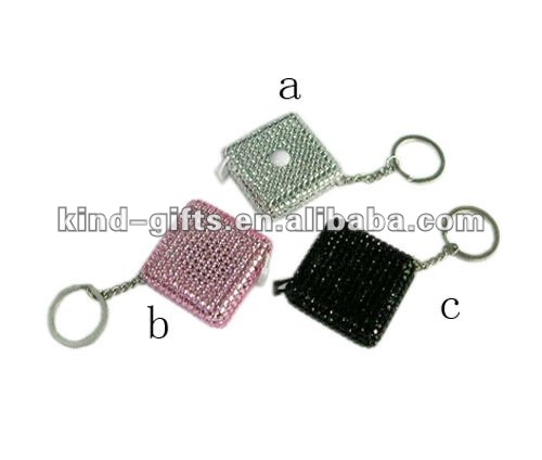Mini cute tape measure bling rhinestone tape measure