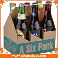 wholesale cheap 6 pack bottles corrugated wine carton boxes