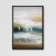 Handmade Modern Abstract Beach Landscape Oil Painting for Living Room Wall Art Decor