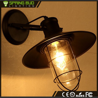Modern craft Metal Shade Warehouse Birdcage shaped Vintage Industrial Metal wall Light