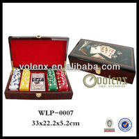 Wooden Poker Playing Card Box - Fitted for One Pair Poker