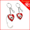 2014 Hot Sale Customized Heart Shape Metal For Tables Bag Hanger