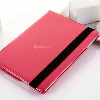 Dual-color flip leather laptop case for ipad air 16gb tablet case