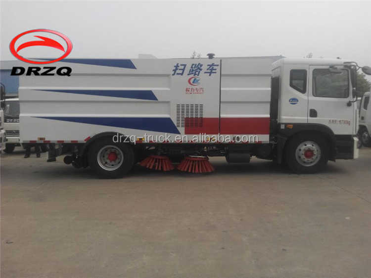 pavement sweeper DONGFENG 4x2 XDRQ5060TSLE sweeper truck cheap price hot sale for sale tractor 3 point hitch snow sweeper