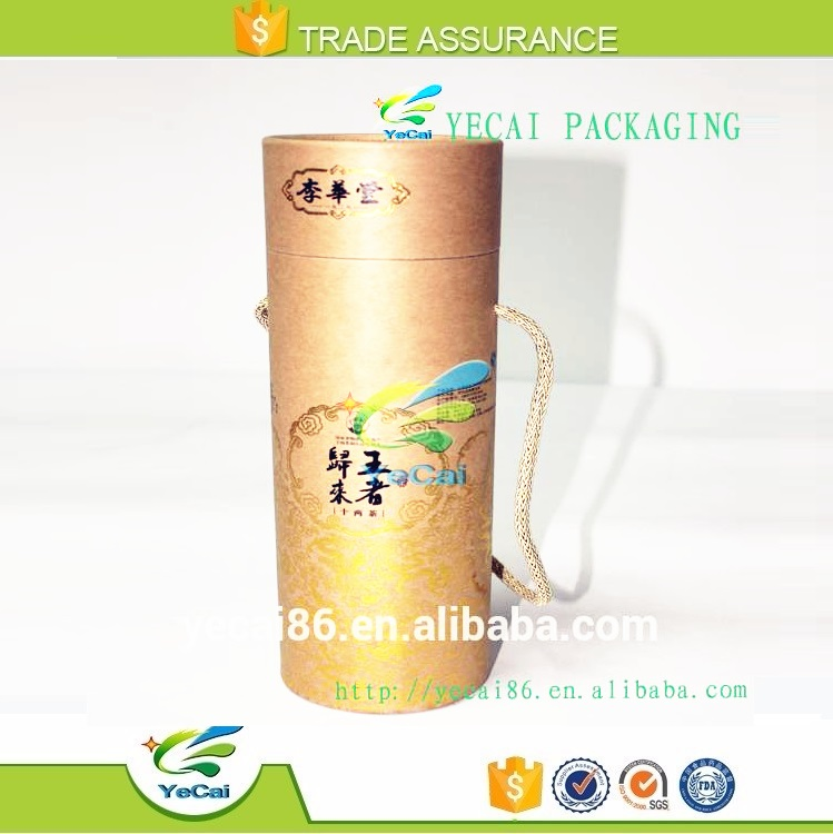 Good quality make paper custom print round cosmetic paper tube box