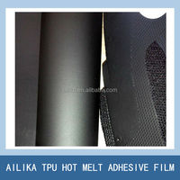 black tpu adhesive film for mesh fusing shoe upper making free sewing shoe upper leather