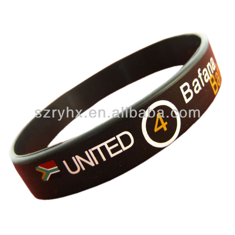 Hot selling printed silicone wristbands for give away