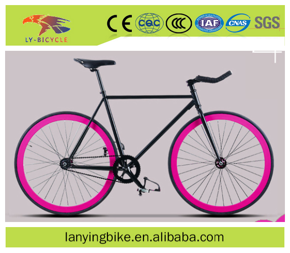 700C swallow bar colorful rim cheap hi-ten steel fixed gear bike