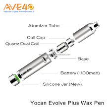 E Cigarettes authentic Yocan Evolve Plus disposable wax vaporizer pen with Quartz dual coil for herbal extract