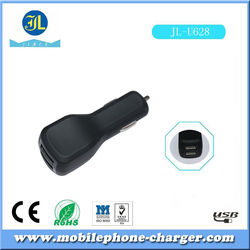 rubberized finished car charger dual USB auto charger 4.7v 3000mA double IC inside