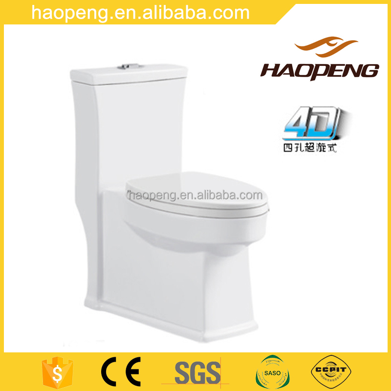4D Better Flushing S-trap One Piece Water Closet Vitreous China Sanitary Toilet Seat