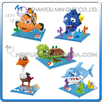Mini Qute HSANHE 5 styles kawaii Finding Nemo Marlin Dory Bruce Nigel plastic building blocks cartoon model educational toy
