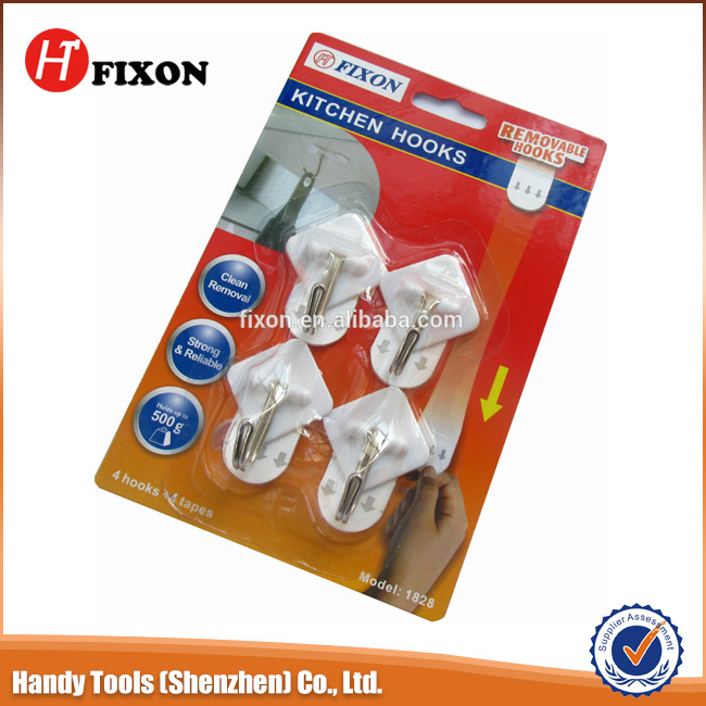 Factory production high quality plastic removable kitchen hooks