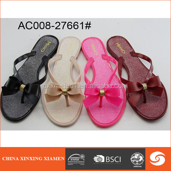 2015 low price butterfly lady pvc sandal jelly sandals